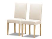 "Lot de 2 chaises  ""Peter bis"" - Blanc"