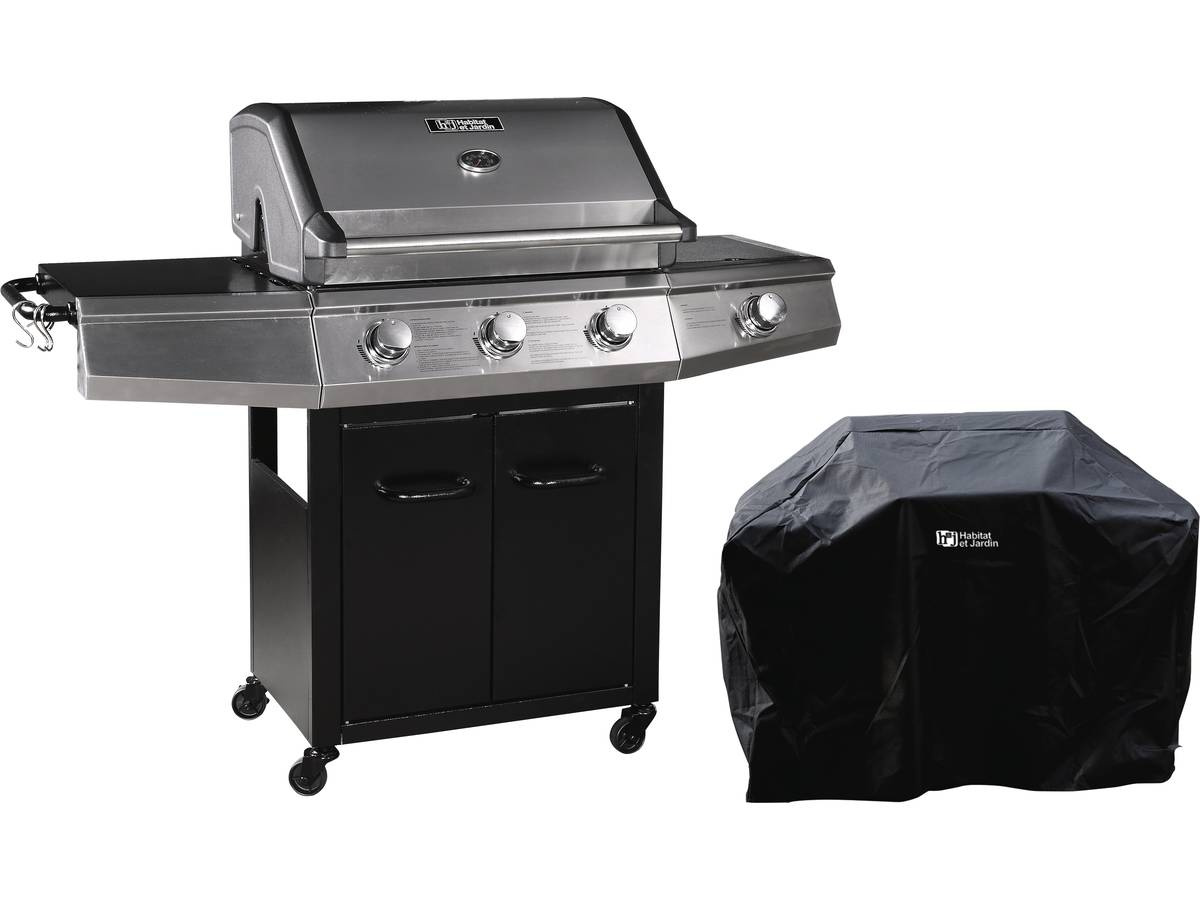 barbecue gaz bingo 4 4 br leurs dont 1 lat ral 14kw. Black Bedroom Furniture Sets. Home Design Ideas