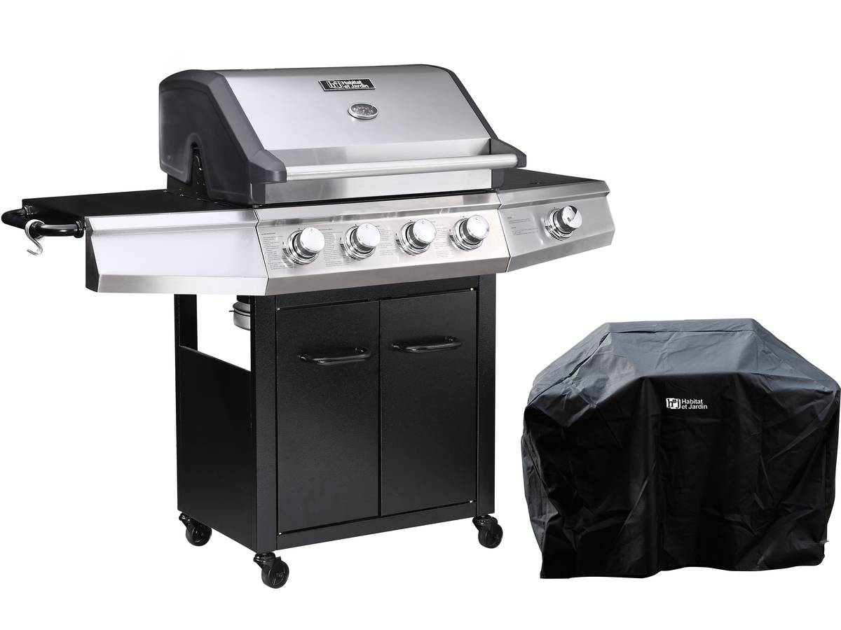 Barbecue Gaz Bingo 5 5 Bruleurs Dont 1 Lateral 15 2kw