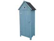 """Armoire de jardin """"Cabanon"""" - 77 x 54.5 x 179 cm - Bleu ciel"""