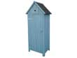 """Armoire de jardin """"Cabanon"""" - 65 x 46 x 179 cm - Bleu ciel"""