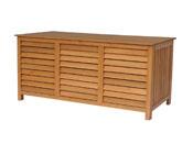 """Coffre de jardin en bois """"Macao"""" - 130 x 64 x 60 cm - Marron"""