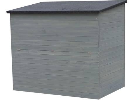 """Coffre de jardin en bois """"Caja"""" - 137 x 91 x 121 cm - Anthracite"""