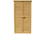 "Armoire de jardin ""Space"" - 87 x 46.5 x 160 cm - Marron"