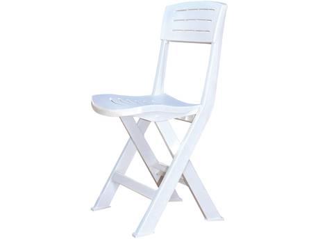 "Lot de 6 chaises jardin ""Fiji"" pliante - Blanc"