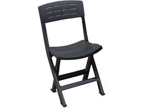 """Lot de 6 chaises jardin """"Fiji"""" pliante -  Anthracite"""