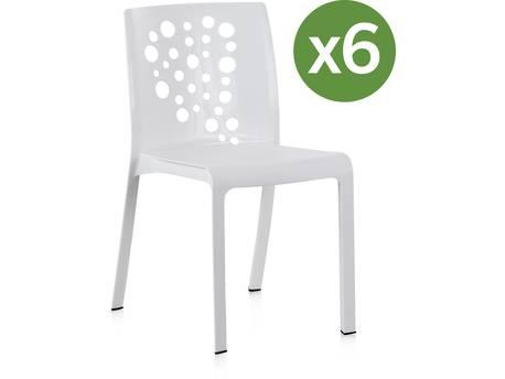 """Lot de 6 chaises jardin """"Cocktail"""""""