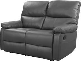"""Canapé relax """"Lincoln"""" - 147 x 89 x 103 cm - 2 places - Gris"""