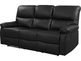 """Canapé relax """"Lincoln"""" - 197 x 89 x 103 cm - 3 places - Noir"""