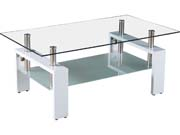 "Table basse ""Camillia"" - 110 x 60 x 45 cm - Blanc"