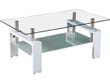 TABLE BASSE CAMILLIA - 110 X 60 X 45 CM - BLANC