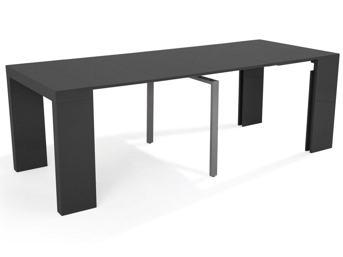 Table console extensible elsa 300 50 x 94 x 75 cm gris 66743 70059 - Table console extensible habitat ...