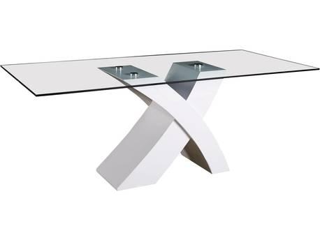 "Table repas ""Mona"" - 200 x 90 x 74 cm - Blanc"