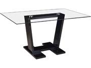 "Table repas ""Bina"" - 150 x 90 x 75 cm - Noir"