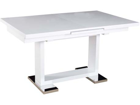 "Table repas ""Toda"" - 140/180 x 90 x 77 cm - Blanc"