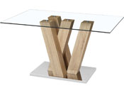 """Table repas """"Gaya"""" - 150 x 90 x 75 cm - Chêne"""