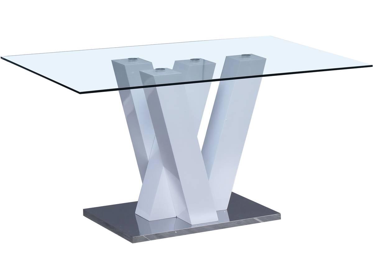 150 x 90 x 75 cm Blanc Table Repas Bina Habitat et Jardin