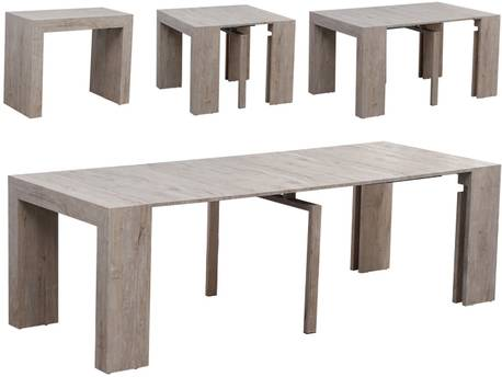 """Table console extensible """"Elsa"""" - 300/50 x 94 x 75 cm - Chêne"""