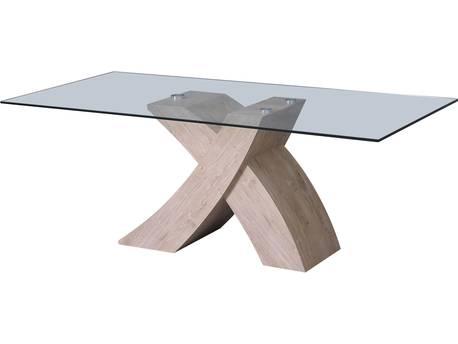 "Table repas ""Mona"" 200 x 90 x 74 cm - Chêne"