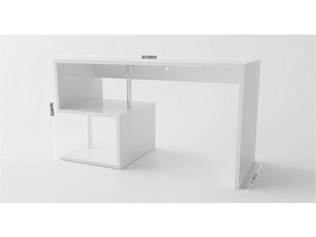 "Bureau "" Esse "" - 140 x 60 x 75 cm - Blanc laqué"