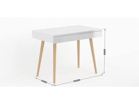 """Bureau """" Bolero """" - 100 x 60 x 75 cm - Blanc laqué"""