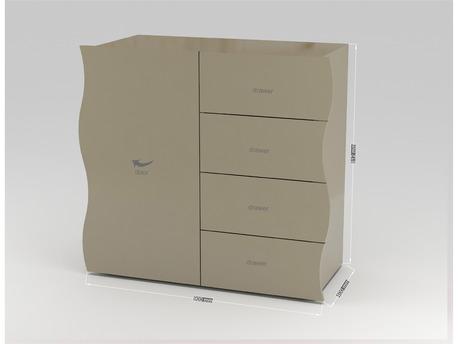"Commode "" Onda "" - 90 x 40 x 81.2 cm - Anthracite laqué"