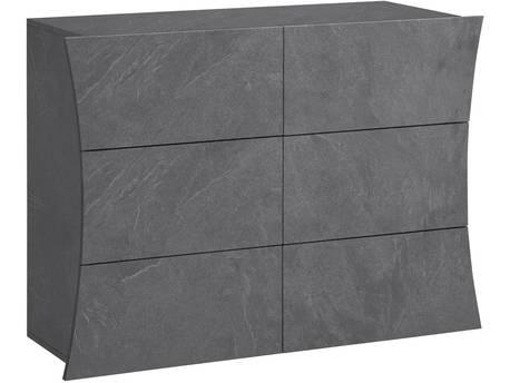 "Commode ""Arco"" - 111 x 40 x 81.5 cm - 6 tiroirs - Ardoise"
