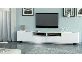 meuble tv jim blanc b ton 250 x 40 x 46 cm 93001. Black Bedroom Furniture Sets. Home Design Ideas
