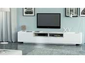 "Meuble TV ""Jim"" - blanc béton - 250 x 40 x 46 cm"
