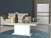 """Table basse """"Athena""""- blanc /chêne sanremo light"""