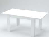 "Table extensible ""Jesi"" - blanc laqué  - 120/170 X 90 cm"