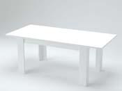 "Table extensible ""Jesi"" - blanc laqué  - 140/190 X 90cm"