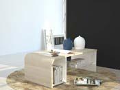 """Table basse """"S Time""""- blanc/chêne sonoma - 100 x 50 x 35 cm"""