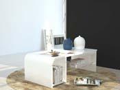 "Table basse ""S Time""- blanc laqué  - 100 x 50 x 35 cm"