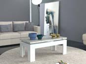 "Table basse rectangulaire ""Gazebo"" - blanc/ciment"