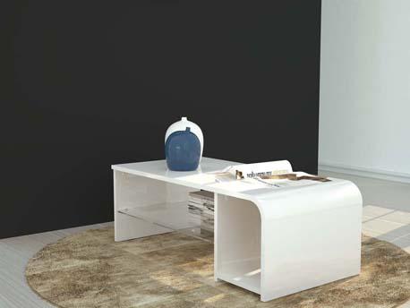 """Table basse """" Gummy """" - 90/150 x 41 x 41 cm - Blanc"""