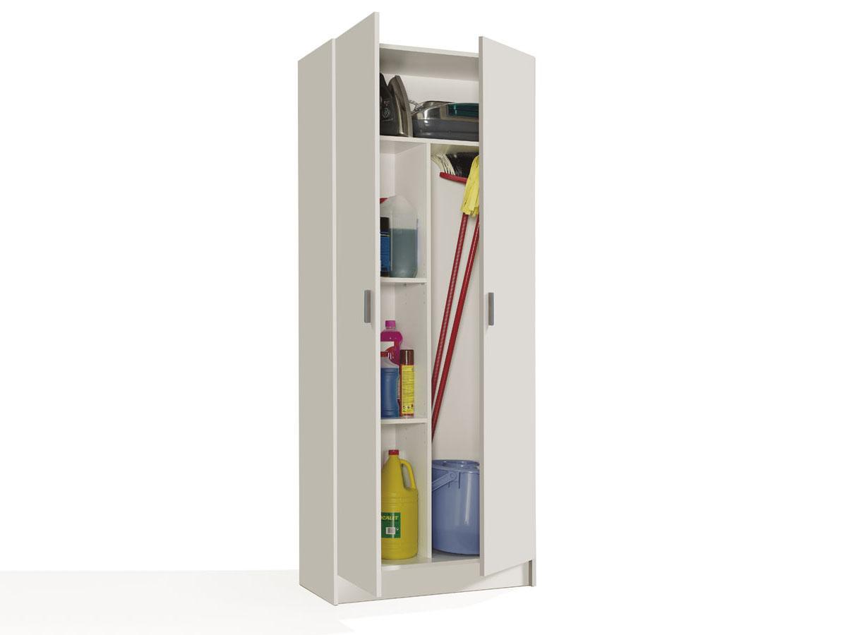 """armoire de rangement """" athina """" - 73 x 37 x 180 cm - blanc 94148"""