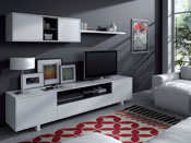 """Ensemble meuble TV""""  Bexus """"- 200 x 41 x h46 cm  - Blanc"""