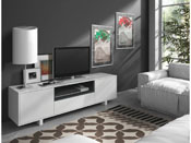 MEUBLE TV  BEXUS 2  - 40 X 150 X 47 CM - BLANC BRI