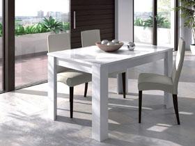 "Table repas "" Kenda "" - extensible - 140/190 x 90 x 78 cm - Blanc brillant"