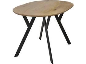 "Table repas ""Brooklyn"" Chêne / Noir - 140 x 80 x 75 cm"