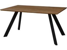 "Table repas ""Manhattan"" Chêne / Noir - 160 x 90 x 75,5 cm"