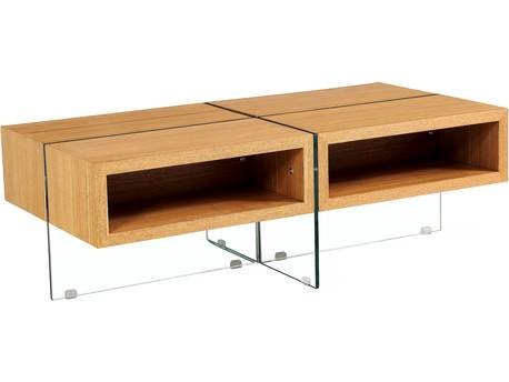 "Table basse ""Milano"" - 120 x 60 x 40 cm - Finition chêne"
