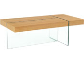 "Table basse ""Taormina"" - 120 x 60 x 40 cm - Finition chêne"