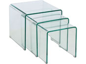 "Tables basses gigognes ""La Spezia"" - 42 x 42 x 42 cm - Transparent"