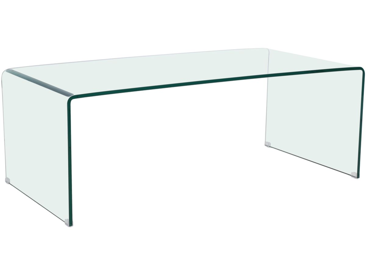 Table Basse Rectangulaire Livorno 120 X 60 X 40 Cm  # Table Basse Transparente
