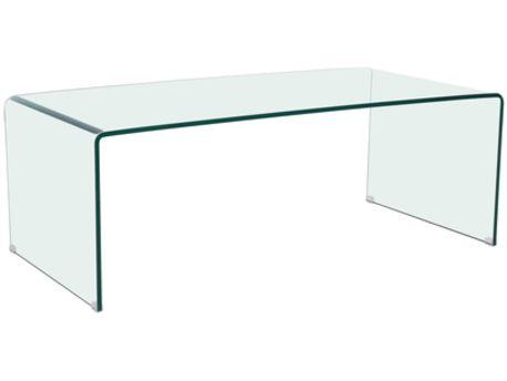 "Table basse rectangulaire ""Livorno"" - 120 x 60 x 40 cm - Transparent"