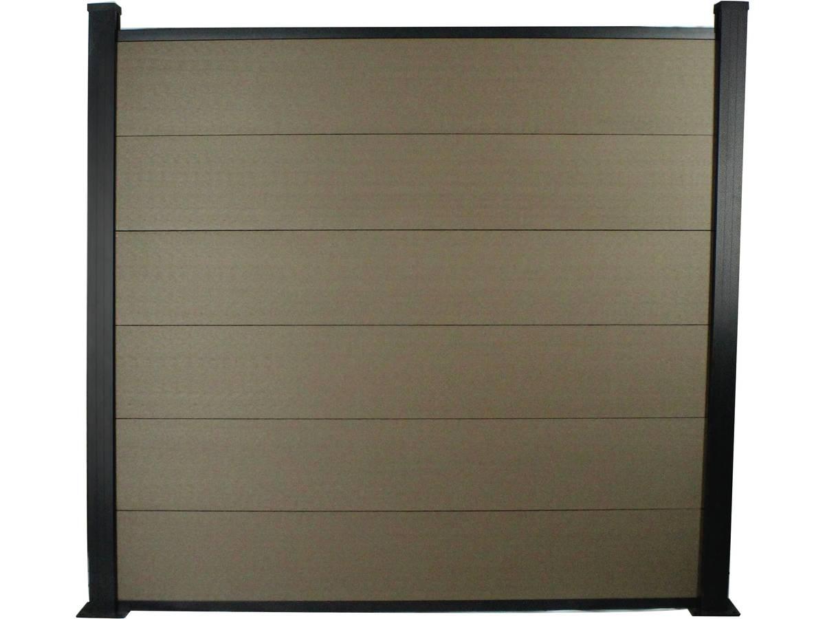 kit cl ture 8m composite et aluminium kit de fixation offert marron 97646. Black Bedroom Furniture Sets. Home Design Ideas