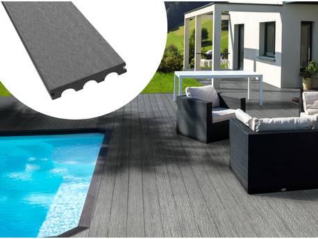 Pack 10 m² - Lames de terrasse composite pleines - Gris