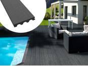Pack 5 m² - Lames de terrasse composite pleines - Gris foncé